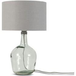 Tafellamp Murano 3220 linnen lichtgrijs, S
