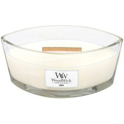 Woodwick Linen ellipse heartwick candle