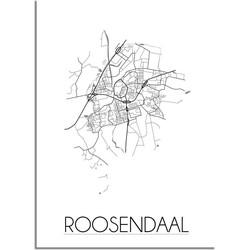 Roosendaal Plattegrond poster - A3 poster zonder fotolijst
