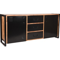 Sideboard Brussels by LABEL51 with its rough mango wooden surfaces, very useful storage spaces and drawers, is a functional and sturdy looking piece of furniture that will steal the show in your home. <br>