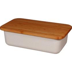 Zuperzozial Save My Bread Broodtrommel/Snijplank - Hout/Wit