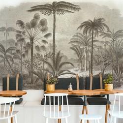 Zuid-Amerikaanse jungle met palmbomen - 200x260 cm (BxH)
