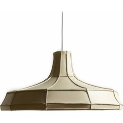 Leather Lampshade Horizontal Beige