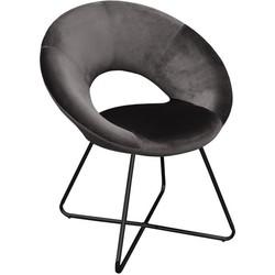 Kick fauteuil Coco Antraciet - Zwart frame