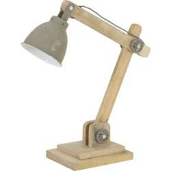 Bureaulamp ELMER - hout naturel + cement