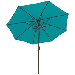 SORARA Faro Parasol  Turquoise -  330 cm - Slinger- en Knikmechanisme