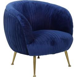 Light&living Fauteuil TILTON velvet blauw 79 x 75 x 75