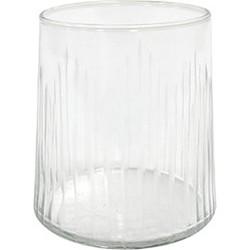 HK-living drinkglas gegraveerd strepen 8,5x8,5x9,5cm