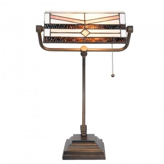 Clayre & Eef Bureaulamp Tiffany 31x30x52 cm / E27 / Max. 1x60 Watt -