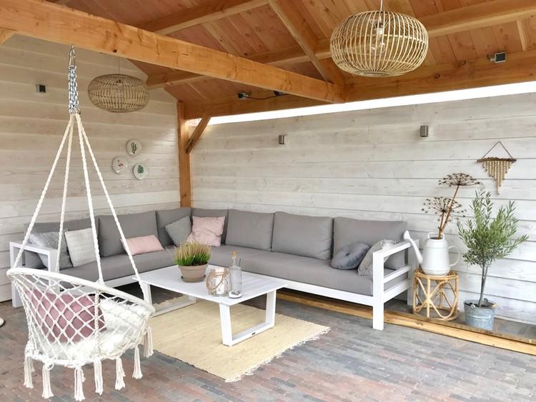 loungeset met veranda