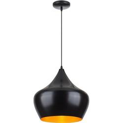 Linea Verdace Hanglamp Tipi Ø38 Cm Mat Zwart - Goud