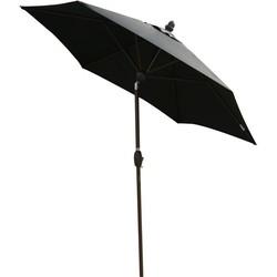 SORARA Lima Parasol  Zwart -  230 cm - Slinger- en Knikmechanisme