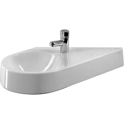 Duravit Architec fontein diagonaal links 64.5x41cm WonderGliss wit