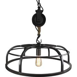 Industrial Round Pendant Lamp Black 60cm - Camelot