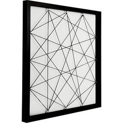 Dresz Fotoframe met elastiek - 50x50cm - zwart