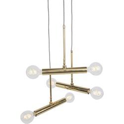 Modern Pendant Lamp 6 Brass - Hazira