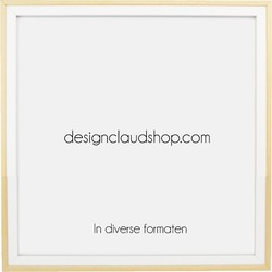 Houten wissellijst Wit + Blank - Fotolijst - Kunststof venster - Div. formaten - 70x100 cm