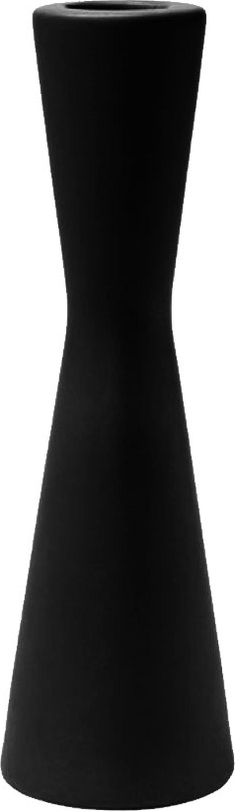 Laura kandelaar - Mat zwart - 6,5 x 21 cm -