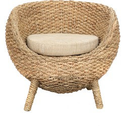 The Water Hyacinth Chair - Natural White