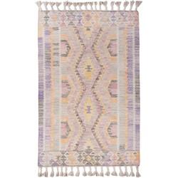 Teppich Vintage Classic Kelim (handgewebt) - Mischgewebe - Flieder / Rosa - 160 x 230 cm, Tom Tailor