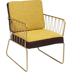 Kare Design Fauteuil String Yellow 77 x 76 x 62
