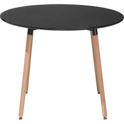 Eettafel zwart 90 cm rond BOVIO