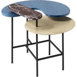 And Tradition Palette JH8 Coffee table - 3 tops. Black,Gold,Tainted blue ash,Red marble