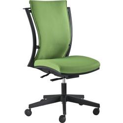 24Designs MaxiFlex Bureaustoel - Stof Groen - Zwarte Kruispoot