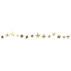 Delight Department Slinger Star Shaped Garland - Goud