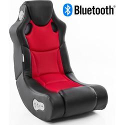 24Designs Racer - Racestoel Gamestoel - Bluetooth & Speakers - Zwart / Rood