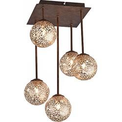 Classic Ceiling Lamp 5 Rust - Kreta