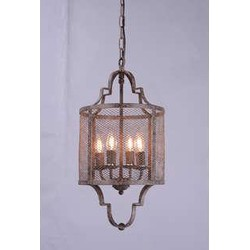 Hanglamp 4L E14 Ø30x61 cm LORELEI antiek bruin