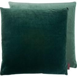 Kissenhülle Samt uni - Webstoff - Grün - 50 x 50 cm