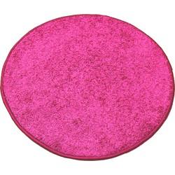 Karpet Batan - Roze - 133 cm Rond