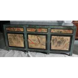 Fine Asianliving Antiek Chinees Glassy Green Dressoir (1820-1845)
