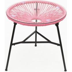 Mexico tafeltje - roze -50x49cm - Zons