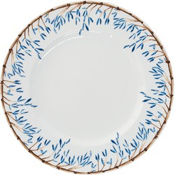 Dinerbord 27 cm Blue Bamboo