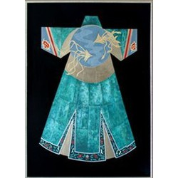 Fine Asianliving Oosters Schilderij Chinese Kleding Blauw