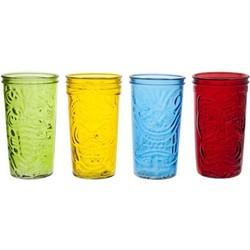 Cosy&Trendy Tiki drinkglazen - assorti - Set-4