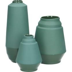set van 3 design vazen Hella Duijs groen