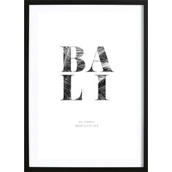 Bali Coördinaten Poster (70x100cm)