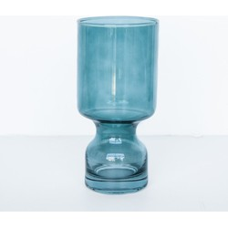 Candle holder glass boogie nights - Silver pine