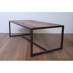 MD Interior Scrap salontafel hout met metalen frame 120x60x40