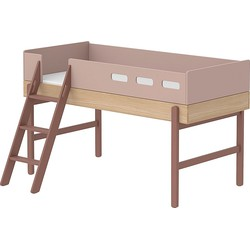Flexa Kids Halfhoogslaper met Schuine Ladder 204,2 x 150,5 cm - Cherry