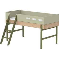 Flexa Kids Halfhoogslaper met Schuine Ladder 204,2 x 150,5 cm - Kiwi