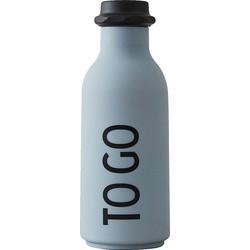 Design Letters TO GO Waterfles 0,5 L - Grijs