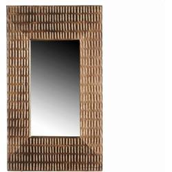 Casa Vivante spiegel nora maat in cm: 28 x 48 donkerbruin