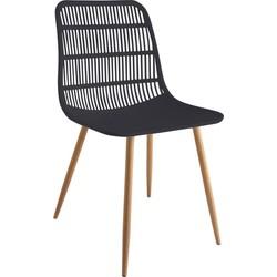 Tamy - Set van 4 stoelen - Zwart