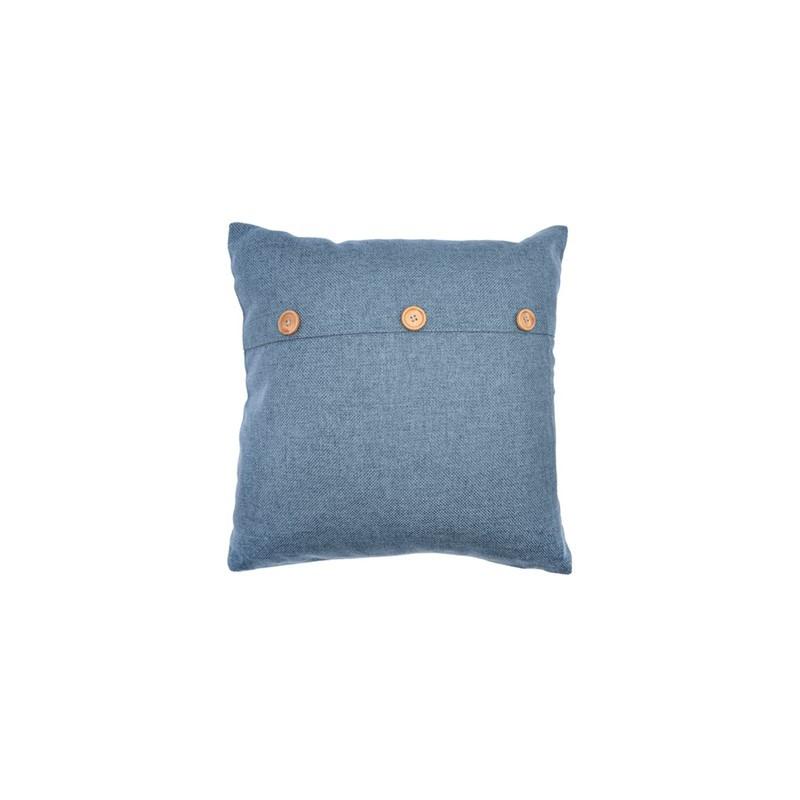 Decoratief kussen - blauw - 45 x 45cm -
