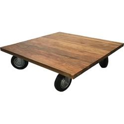 SILT 'n Pure salontafel teak op wielen
